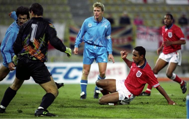 San Marino Inghilterra 1 7 1993 Massimo Bonini e Paul Ince